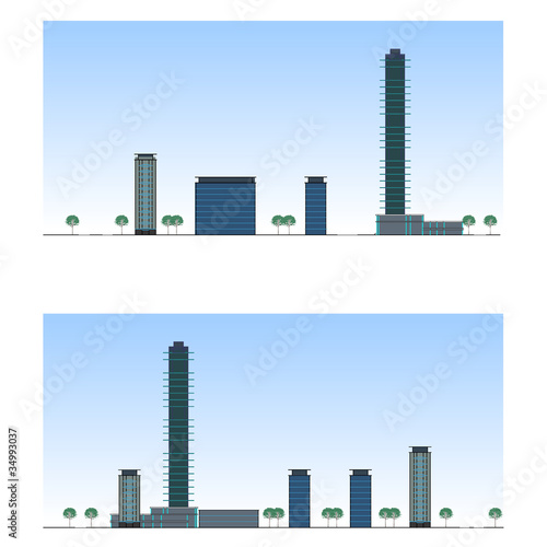 City. Urban section, vector