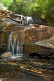 Large waterfall seen from base: Glen Falls in North Carolina
