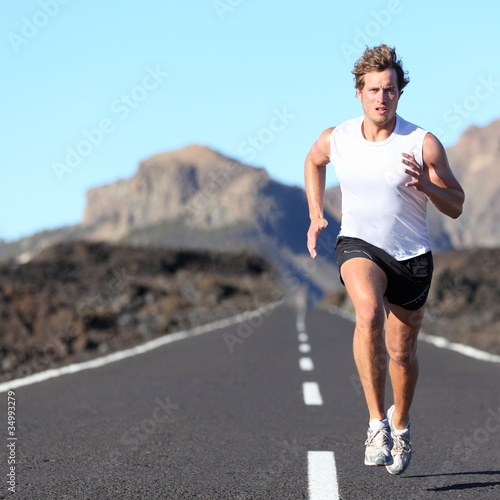 Runner running for Marathon