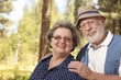 Loving Senior Couple Outdoors Portrait