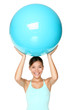 Pilates fitness woman isolated