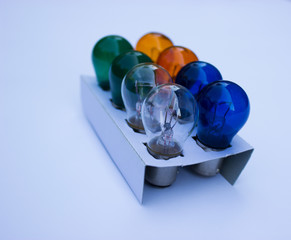 Set of colored bulbs