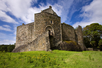 Dunstaffnage Castle on the north west coast of Scotland