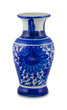 chinese antique vase on the plain back ground