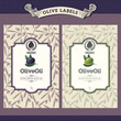 Set of olive oil labels