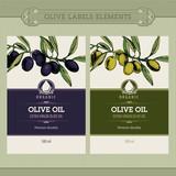 Fototapety Set of olive oil labels