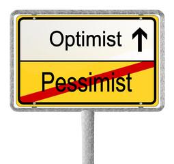 Optimist gegen Pessimist