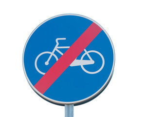 no cycling sign isolated on white background