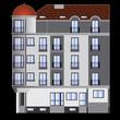 building facade, vector
