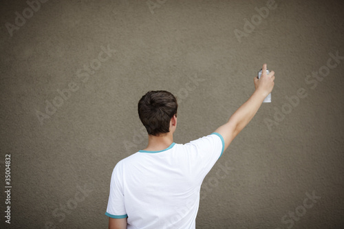 Graffiti Artist with Copyspace