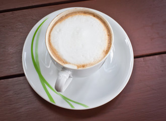 a cup of fresh coffee