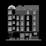 building facade, vector poster