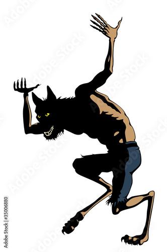Werewolf Dances. Clip art Cartoon : Fotolia