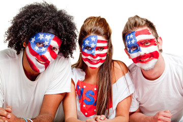 Group of American people