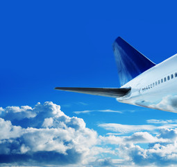 jumbo jet in sky