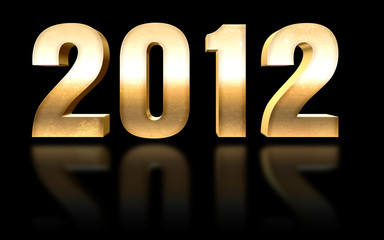 2012 Gold Or 3D Nouvel An