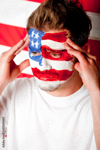 Worried American man