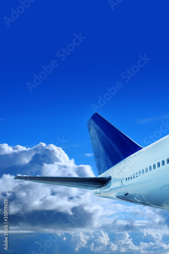 aircraft tail in sky