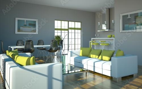 GamesAgeddon - Wohndesign - Küche grün grau - Lizenzfreie Fotos ...