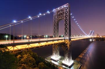 George Washington Bridge Spans the Hudson River to New York City