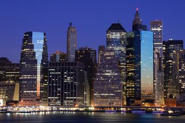 Landmark Financial Buildings in Lower Manhattan New York City