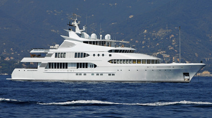 luxury boat at sea