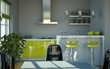 Wohndesign - Küche grün grau
