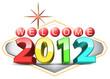 las vegas sign with 2012 calendar sign
