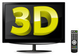 lcd tv with remote control and 3d sign