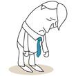 Geschäftsmann, niedergeschlagen