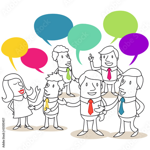 Geschäftsleute, Konversation