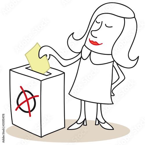 Frau, Stimmabgabe