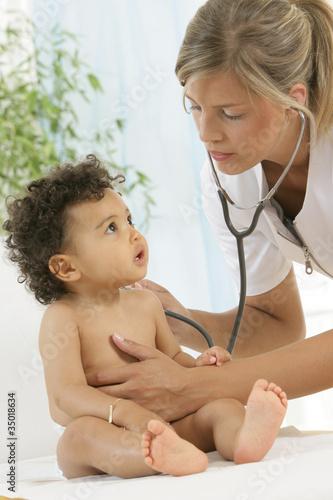 Fototapeten,baby,padel,junge,stethoscope