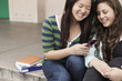 Students text messaging in school