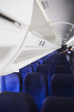 Inside of commercial airplane