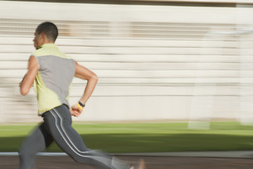 Hispanic man running