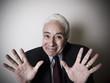 Hispanic man waving hands