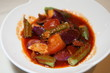 Food - Vegetarian Brinjal in Tomato Sauce