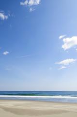 太平洋と砂浜