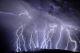 Fototapety Lightning over the Rincon Mountains