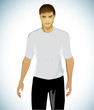 Young Sport Male Wearing T-shirt/Vector Illustration