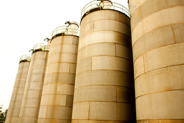 Industrial Agriculture silos housing