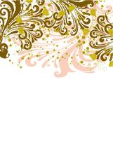 floral vintage ocre