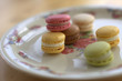 Macarons auf Teller