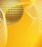 Discoball in gelbem Schleier poster