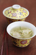 Close up of won ton soup
