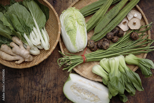 Variety of Asian vegetables
