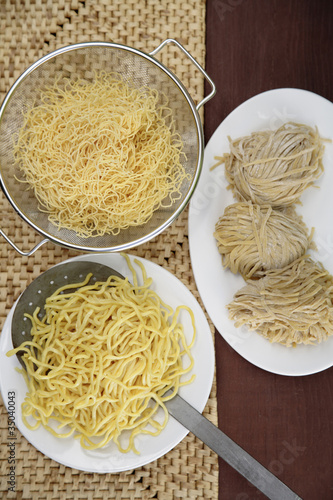 Variety of Asian noodles