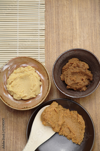 Variety of Japanese miso