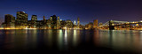 panorama Manhattanu o zmierzchu